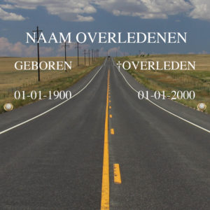 Tijdelijk grafdoek met een high way (snelweg) op de achtergrond. HB-grafdoeken onderdeel van HB-Creations uit Tilburg (Reeshof)