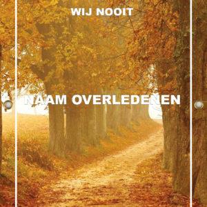 Tijdelijk grafdoek met een herfst bospad. HB-grafdoeken onderdeel van HB-Creations uit Tilburg (Reeshof).