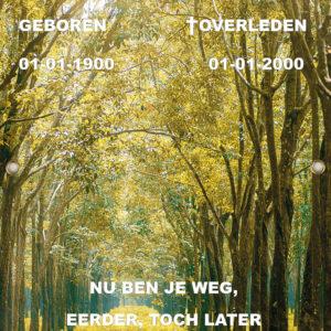 Tijdelijk grafdoek met een groen bospad. HB-grafdoeken onderdeel van HB-Creations uit Tilburg (Reeshof)