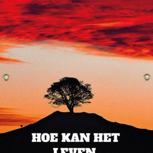 Tijdelijk grafdoek met een boom in de ondergaande zon. HB-grafdoeken onderdeel van HB-Creations uit Tilburg (Reeshof).