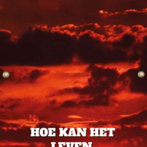 Tijdelijk grafdoek met een bewolkte ondergaande zon in het avondrood. HB-grafdoeken onderdeel van HB-Creations uit Tilburg (Reeshof).