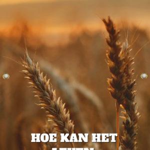 Tijdelijk grafdoek met de ondergaande zon die over het korenveld schijnt. HB-grafdoeken onderdeel van HB-Creations uit Tilburg (Reeshof).