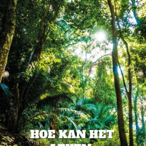 Tijdelijk grafdoek in het het bos. HB-grafdoeken onderdeel van HB-Creations uit Tilburg (Reeshof).
